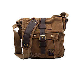 Мужская сумка через плечо Akarmy | милитари | коричневая