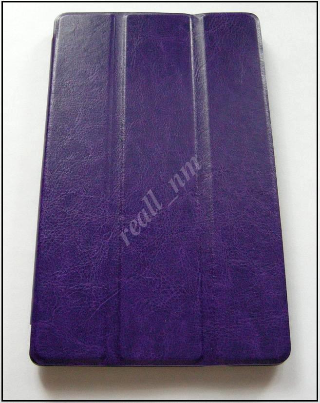 Фиолетовый кожаный ultra slim чехол-книжка для планшета Lenovo Tab s8-50F
