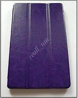 Фиолетовый кожаный ultra slim чехол-книжка для планшета Lenovo Tab s8-50F, фото 1