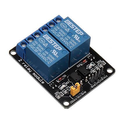 BESTEP 2 Канал 3V Релейный модуль Низкоуровневая изоляция оптопары для Auduino 1TopShop, фото 2
