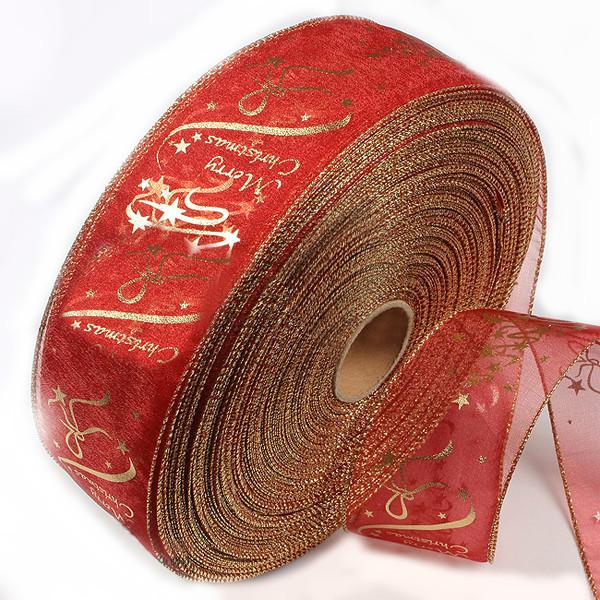 Красное золото печать лента поставок елки украшения 1TopShop