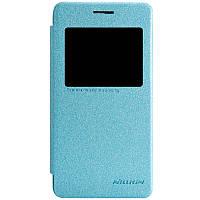 Кожаный чехол книжка Nillkin Sparkle для Asus Zenfone 4 A450CG бирюзовый