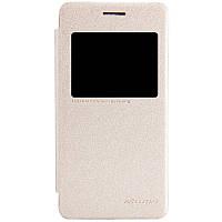 Кожаный чехол книжка Nillkin Sparkle для Asus Zenfone 4 A450CG золотистый