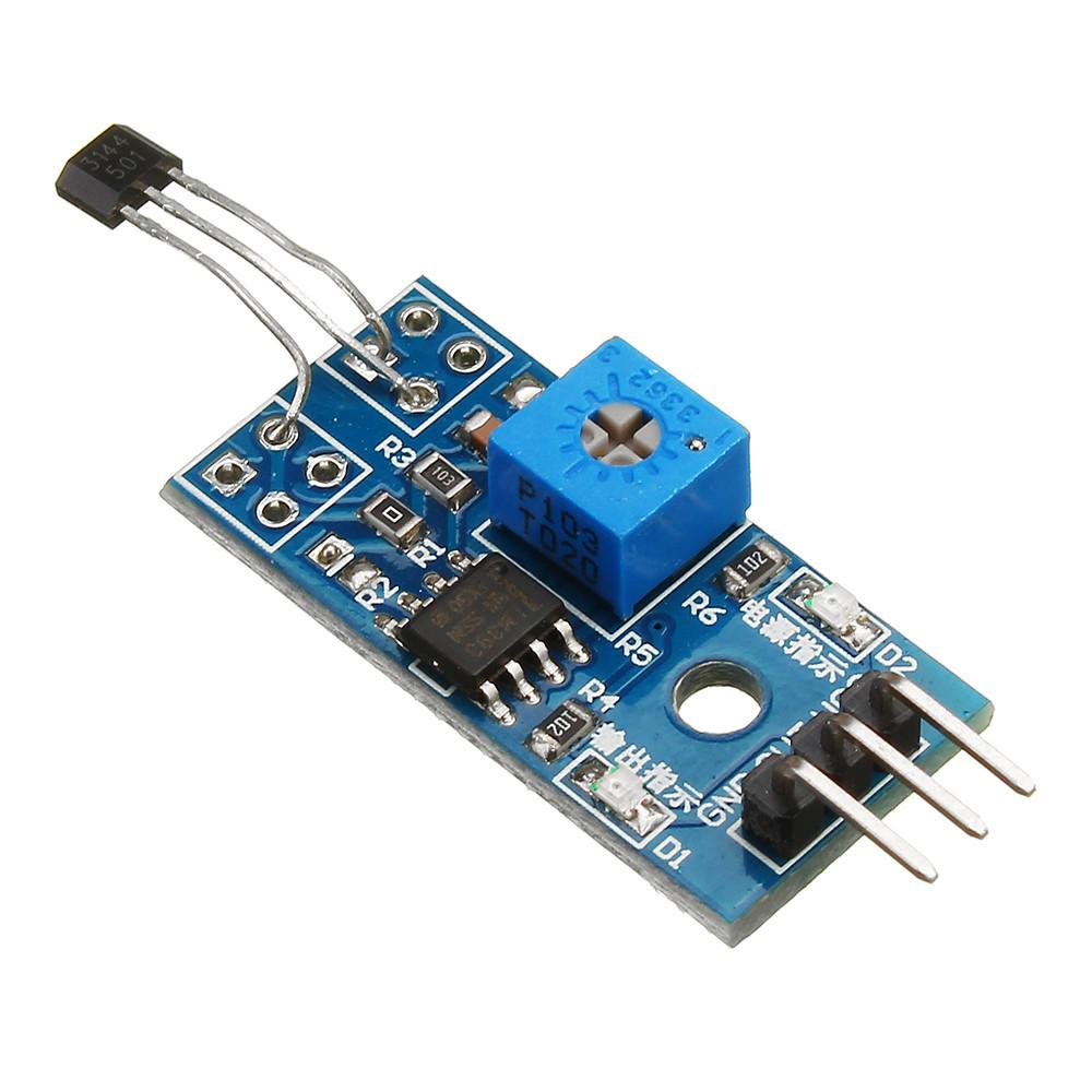 5pcs 5V/3.3V Зал для измерения скорости Датчик Переключатель модульного зала Мотор Модуль тахометра для DIY 1TopShop