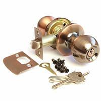 Ручка-защелка Апекс 6072-01AС (ключ)