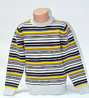 Свитер Many&Many серо-жёлтая полоса