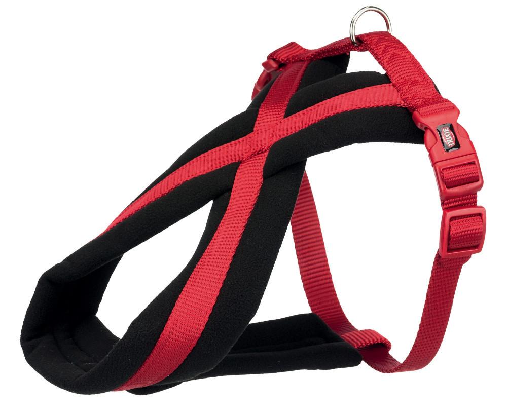 Шлея-петля М-L 50-80 см Преміум Софт червона Trixie для собак