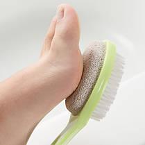 Двусторонний ножной абразивный камень Щетка Мертвый очиститель кожи Отшелушивающий агент Щетка 1TopShop, фото 2