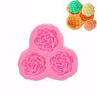3D Силиконовые 3 розы Цветы Fondant торт шоколад прессформы прессформы DIY торт украшение 1TopShop