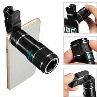 Универсальный телескоп 12X Zoom Оптический клип телеобъектив камера Объектив для сотового телефона планшета - 1TopShop