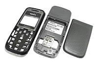 Корпус Nokia 1200 / 1208 черный FULL High Copy