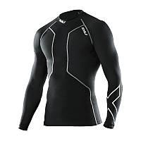 Мужская компрессионная футболка с длинным рукавом для восстановления 2XU после плавания