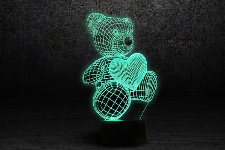 3D светильник 3D Lamp Мишка (LP-614)