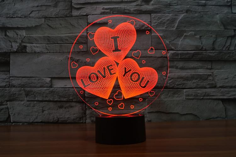 3D светильник 3D Lamp I love you (LP-633)