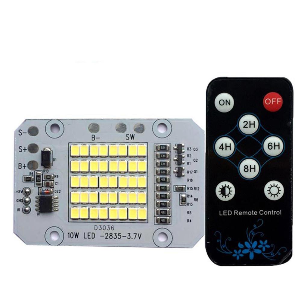 DC3.7V 10W LED Дистанционное Управление DIY Белый чип источника света для контролируемого света Солнечная Light 1TopShop
