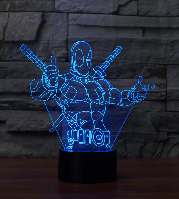 3D светильник 3D Lamp Дэдпул (LP-759), фото 1
