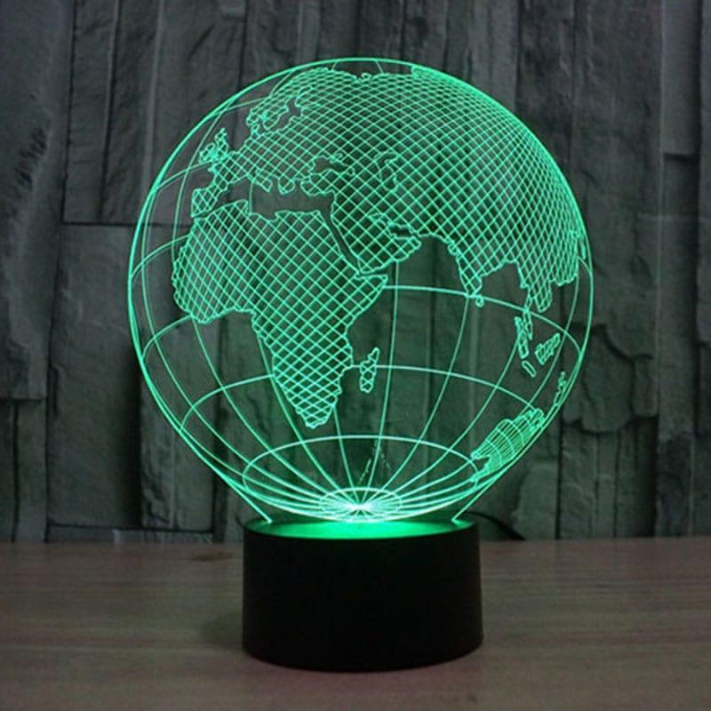 3D светильник 3D Lamp Планета Земля (LP-1206)