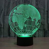 3D светильник 3D Lamp Планета Земля (LP-1206), фото 1