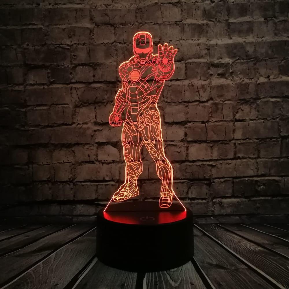 3D светильник 3D Lamp Железный человек 3 (LP-1214)
