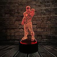 3D светильник 3D Lamp Железный человек 3 (LP-1214), фото 1