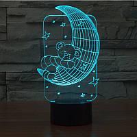 3D светильник 3D Lamp Месяц (LP-1246), фото 1