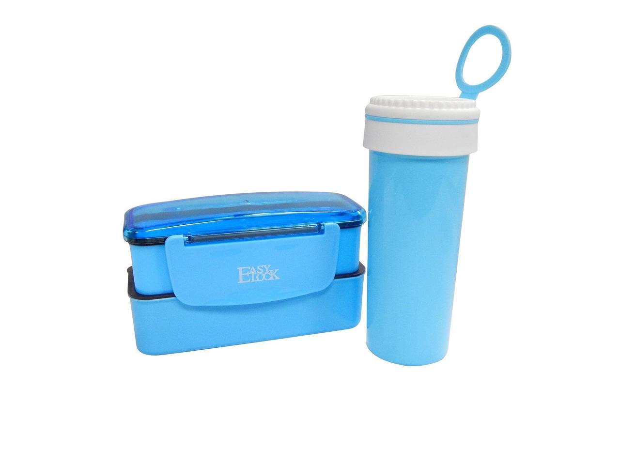 Набор ланч бокс бутылка Easy Lock Set голубой (LB-527)