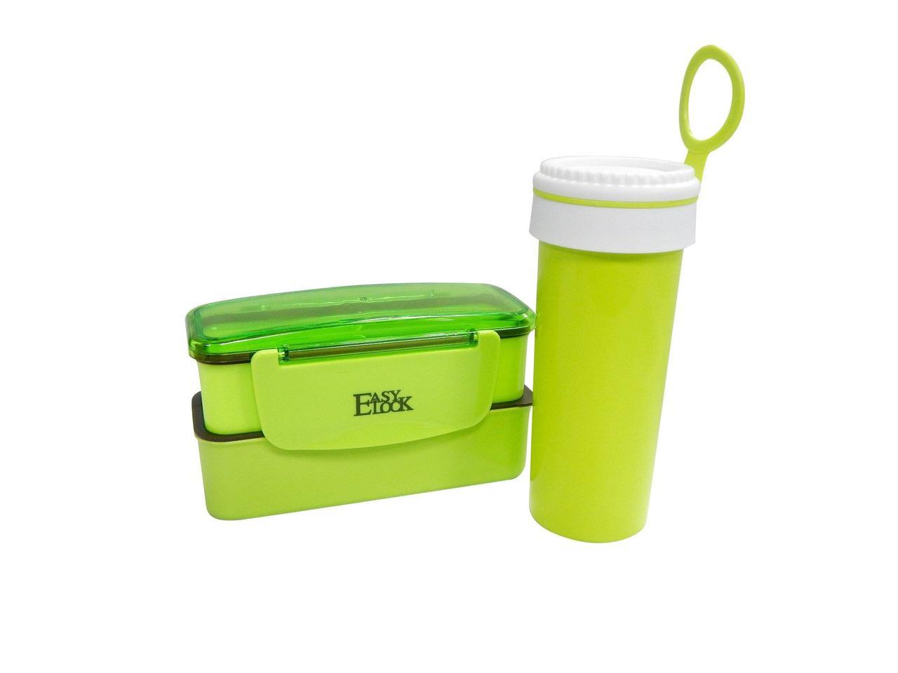 Набор ланч бокс бутылка Easy Lock Set зеленый (LB-526)