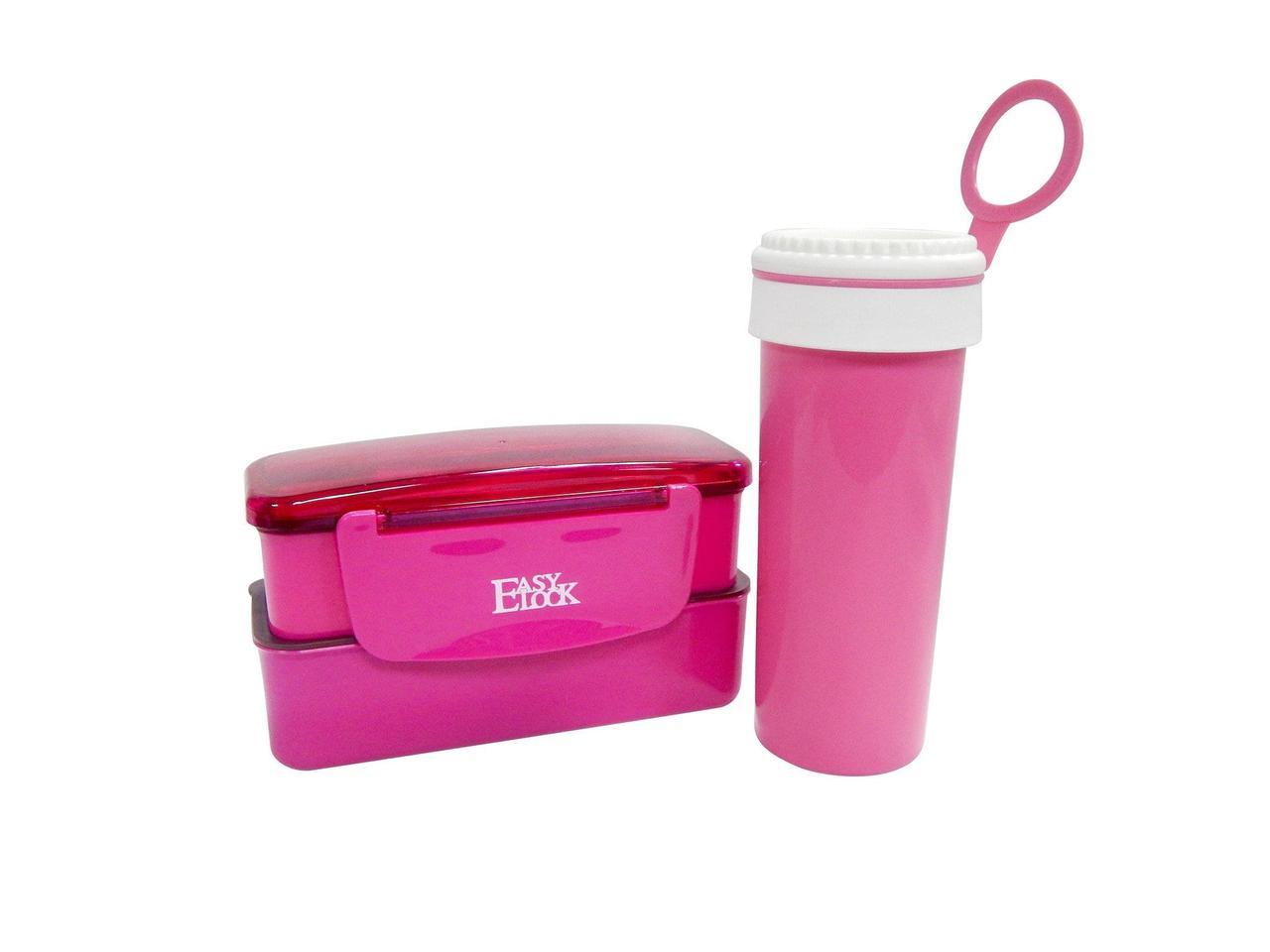 Набор ланч бокс бутылка Easy Lock Set розовый (LB-506)