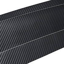 Черный Авто Задний бампер Магистральный подлокотник Защитная чехол для губ Автоbon Fiber Sticker 1TopShop, фото 3