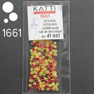 KATTi Блестки в пакете 1661 красные и желто золотистые микс точки микс 2мм, фото 2