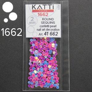 KATTi Блестки в пакете 1662 голубые и розовые микс точки микс 2мм