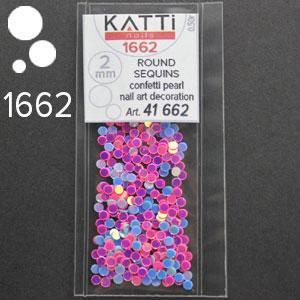 KATTi Блестки в пакете 1662 голубые и розовые микс точки микс 2мм, фото 2