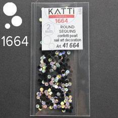 KATTi Блестки в пакете 1664 черные матовые и серебро голограф микс точки 2мм