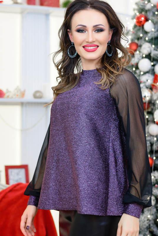 Модна бузкова блузка Мадлен