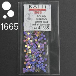 KATTi Блестки в пакете 1665 дымные лилово фиалковые микс точки 2мм, фото 2