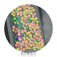 KATTi Блестки в пакете 1666 зеленые и фиолет микс точки 2мм, фото 3