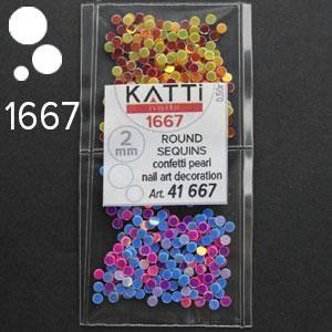 KATTi Блестки в пакете 1667 микс точки 2мм, фото 2