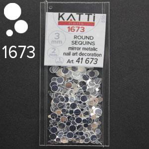 KATTi Блестки в пакете 1673 серебро зеркальные микс 1-2-3мм