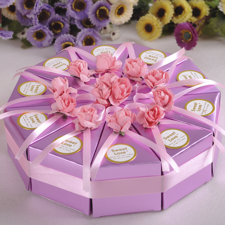 10шт творческий торт конфеты коробка свадебные коробки партия торт шоколадный подарок 1TopShop