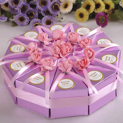 10шт творческий торт конфеты коробка свадебные коробки партия торт шоколадный подарок 1TopShop, фото 2