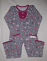 Пижама для девочки 5,6,7 лет кулир без начеса.