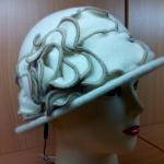 Шляпы RABIONEK из шерсти с цветком, молочный цвет