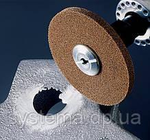 Круг шлифовальный прессованный 152,0х18,0х6,3 мм Р180 высокой жёсткости для нержавеющей стали, фото 3