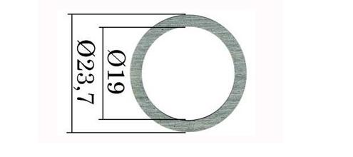 Регулювальні шайби форсунки Common Rail Bosch 23,7х19 мм. 0,01 мм 1,00-1,10 мм. 110 шт.