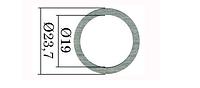 Регулировочные шайбы форсунки Common Rail Bosch 23,7х19 мм. 0,01 мм. 1,00-1,10 мм. 110 шт.