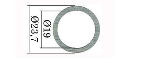 Регулювальні шайби форсунки Common Rail Bosch 23,7х19 мм. 0,01 мм 1,00-1,10 мм. 110 шт., фото 2