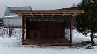 Вольер для собаки 2,5*3,5 | Втавная решетка | Встроенная будка