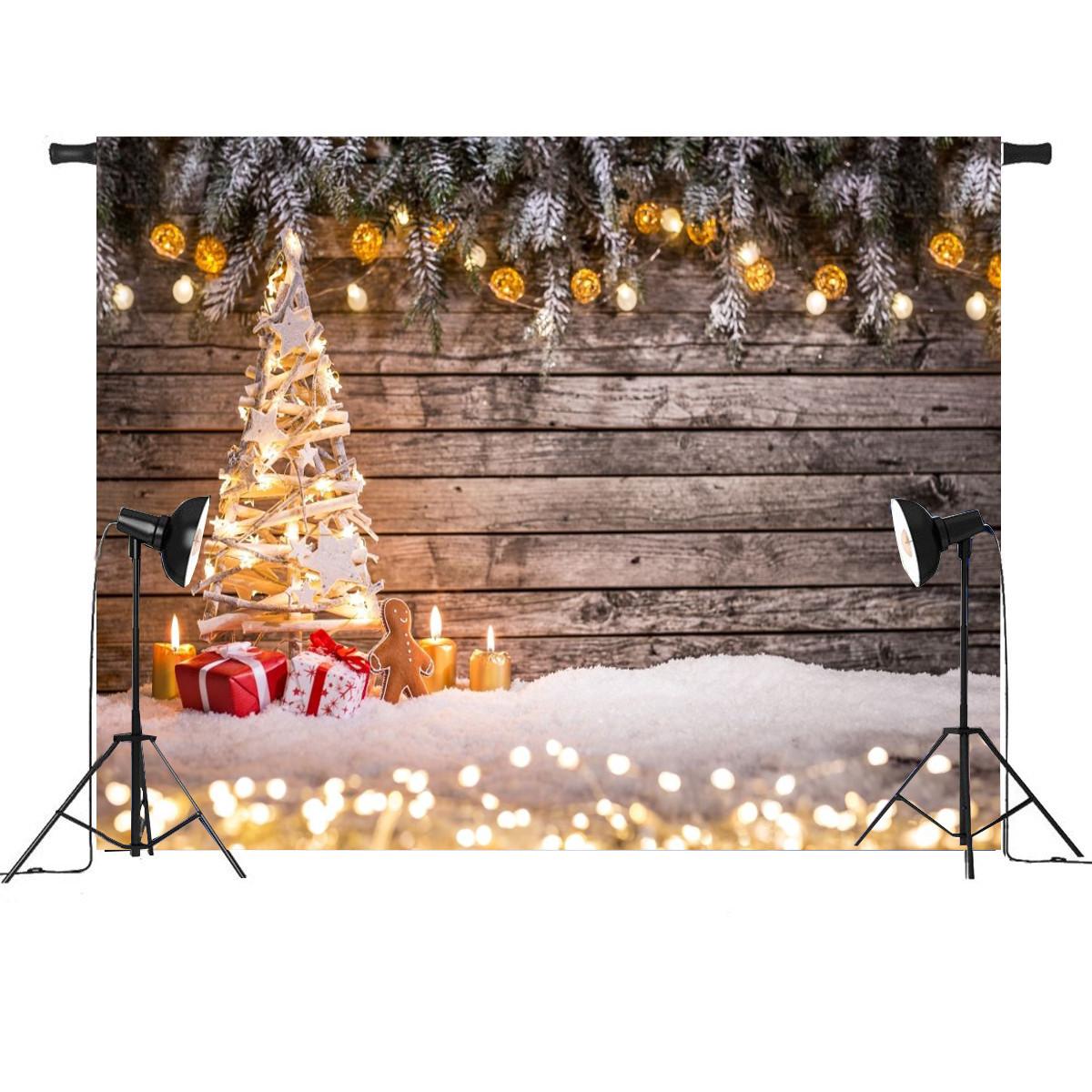 7x5FT Романтическая рождественская елка Light Decor Фотосъемка Студия Prop Background - 1TopShop
