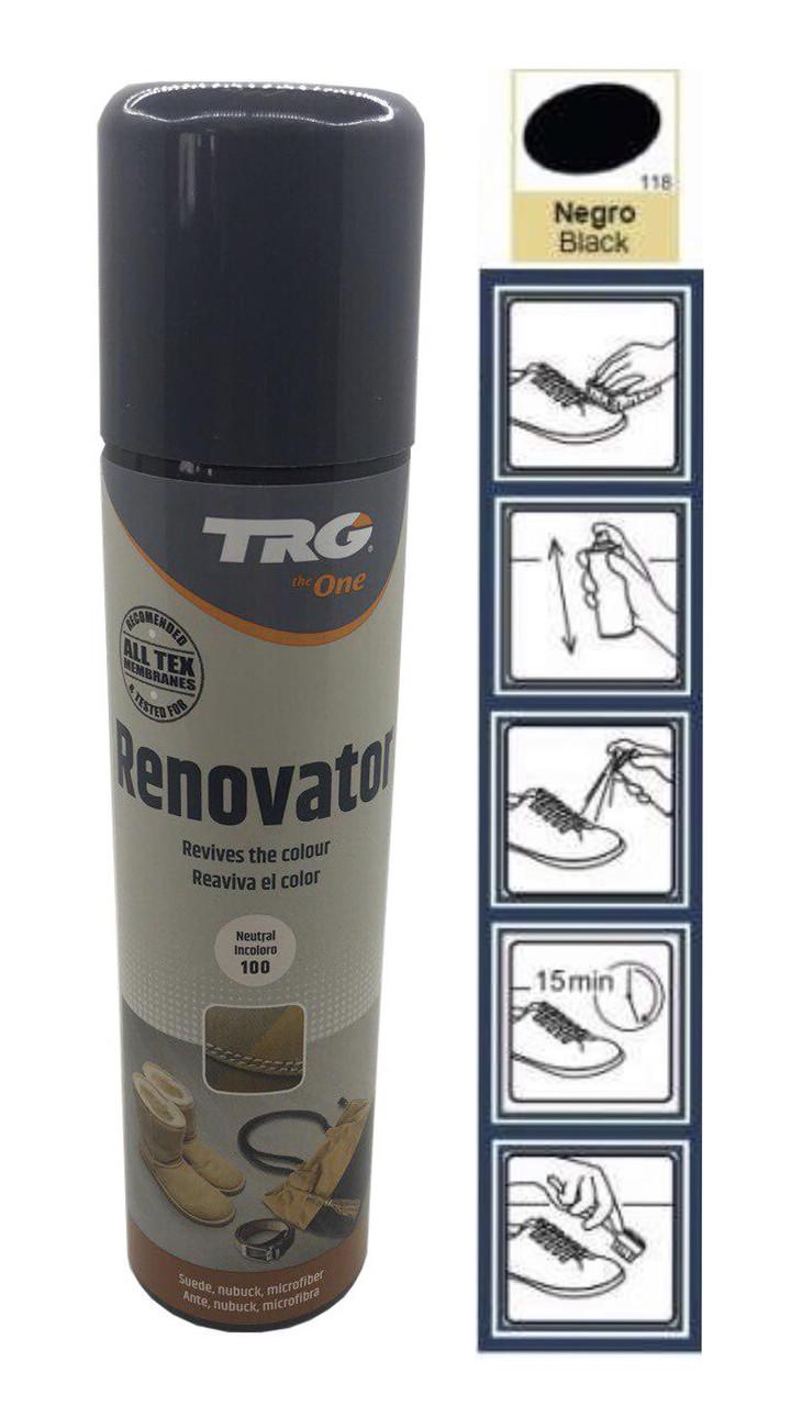 Краска чёрная  для замши и нубука TRG Renovator 250ml #118
