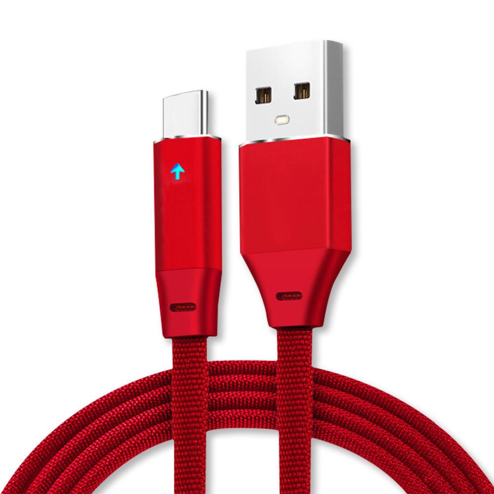 Bakeey Дыхательный свет Nylon USB Type-C 2.4A Кабель для быстрой передачи данных для Xiaomi 6 Oneplus S8 S7 1TopShop